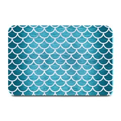 Scales1 White Marble & Teal Brushed Metal Plate Mats by trendistuff