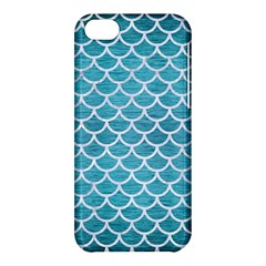 Scales1 White Marble & Teal Brushed Metal Apple Iphone 5c Hardshell Case by trendistuff