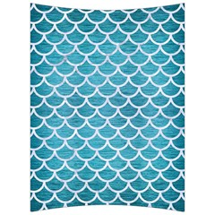 Scales1 White Marble & Teal Brushed Metal Back Support Cushion