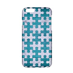 Puzzle1 White Marble & Teal Brushed Metal Apple Iphone 6/6s Hardshell Case by trendistuff