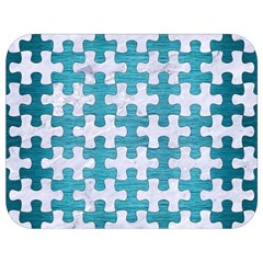 Puzzle1 White Marble & Teal Brushed Metal Full Print Lunch Bag