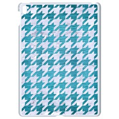Houndstooth1 White Marble & Teal Brushed Metal Apple Ipad Pro 9 7   White Seamless Case by trendistuff
