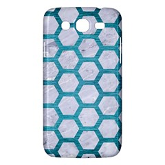 Hexagon2 White Marble & Teal Brushed Metal (r) Samsung Galaxy Mega 5 8 I9152 Hardshell Case  by trendistuff