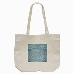 Hexagon1 White Marble & Teal Brushed Metal (r) Tote Bag (cream) by trendistuff