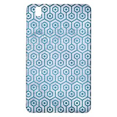 Hexagon1 White Marble & Teal Brushed Metal (r) Samsung Galaxy Tab Pro 8 4 Hardshell Case by trendistuff