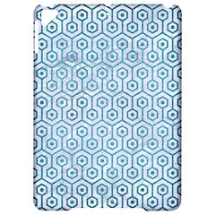 Hexagon1 White Marble & Teal Brushed Metal (r) Apple Ipad Pro 9 7   Hardshell Case by trendistuff