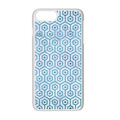 Hexagon1 White Marble & Teal Brushed Metal (r) Apple Iphone 7 Plus Seamless Case (white) by trendistuff