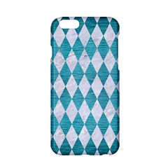 Diamond1 White Marble & Teal Brushed Metal Apple Iphone 6/6s Hardshell Case by trendistuff
