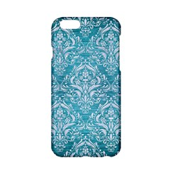 Damask1 White Marble & Teal Brushed Metal Apple Iphone 6/6s Hardshell Case by trendistuff