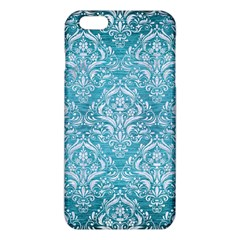 Damask1 White Marble & Teal Brushed Metal Iphone 6 Plus/6s Plus Tpu Case by trendistuff