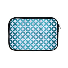 Circles3 White Marble & Teal Brushed Metal (r) Apple Ipad Mini Zipper Cases by trendistuff