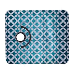 Circles3 White Marble & Teal Brushed Metal Galaxy S3 (flip/folio) by trendistuff