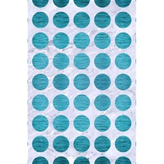 Circles1 White Marble & Teal Brushed Metal (r) 5 5  X 8 5  Notebooks by trendistuff