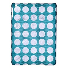 Circles1 White Marble & Teal Brushed Metal Ipad Air Hardshell Cases