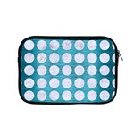 CIRCLES1 WHITE MARBLE & TEAL BRUSHED METAL Apple MacBook Pro 15  Zipper Case Front