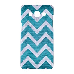Chevron9 White Marble & Teal Brushed Metal Samsung Galaxy A5 Hardshell Case  by trendistuff