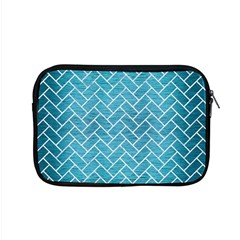 Brick2 White Marble & Teal Brushed Metal Apple Macbook Pro 15  Zipper Case by trendistuff
