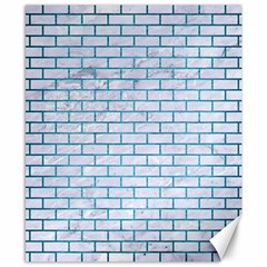 Brick1 White Marble & Teal Brushed Metal (r) Canvas 8  X 10  by trendistuff
