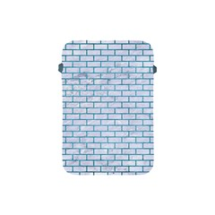 Brick1 White Marble & Teal Brushed Metal (r) Apple Ipad Mini Protective Soft Cases by trendistuff
