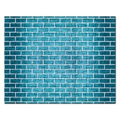 Brick1 White Marble & Teal Brushed Metal Rectangular Jigsaw Puzzl by trendistuff