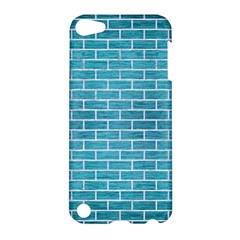 Brick1 White Marble & Teal Brushed Metal Apple Ipod Touch 5 Hardshell Case by trendistuff