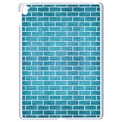 Brick1 White Marble & Teal Brushed Metal Apple Ipad Pro 9 7   White Seamless Case by trendistuff