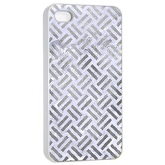Woven2 White Marble & Silver Paint (r) Apple Iphone 4/4s Seamless Case (white) by trendistuff
