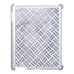 Woven2 White Marble & Silver Paint (r) Apple Ipad 3/4 Case (white) by trendistuff