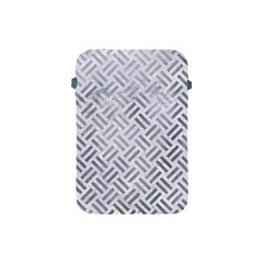 Woven2 White Marble & Silver Paint (r) Apple Ipad Mini Protective Soft Cases by trendistuff