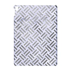 Woven2 White Marble & Silver Paint (r) Apple Ipad Pro 10 5   Hardshell Case by trendistuff