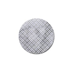 Woven2 White Marble & Silver Paint Golf Ball Marker (4 Pack) by trendistuff