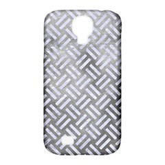Woven2 White Marble & Silver Paint Samsung Galaxy S4 Classic Hardshell Case (pc+silicone) by trendistuff