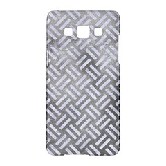Woven2 White Marble & Silver Paint Samsung Galaxy A5 Hardshell Case  by trendistuff