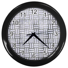 Woven1 White Marble & Silver Paint Wall Clocks (black) by trendistuff