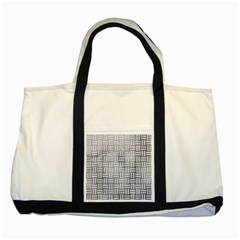 Woven1 White Marble & Silver Paint Two Tone Tote Bag by trendistuff