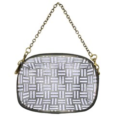 Woven1 White Marble & Silver Paint Chain Purses (one Side)  by trendistuff