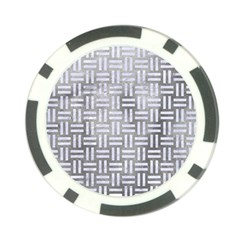 Woven1 White Marble & Silver Paint Poker Chip Card Guard (10 Pack) by trendistuff