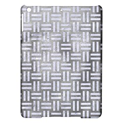 Woven1 White Marble & Silver Paint Ipad Air Hardshell Cases by trendistuff