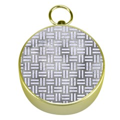 Woven1 White Marble & Silver Paint Gold Compasses by trendistuff