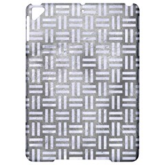 Woven1 White Marble & Silver Paint Apple Ipad Pro 9 7   Hardshell Case by trendistuff