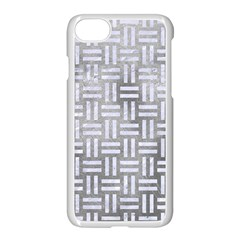 Woven1 White Marble & Silver Paint Apple Iphone 7 Seamless Case (white) by trendistuff