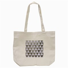Triangle3 White Marble & Silver Paint Tote Bag (cream) by trendistuff