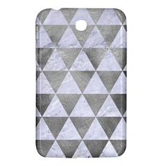 Triangle3 White Marble & Silver Paint Samsung Galaxy Tab 3 (7 ) P3200 Hardshell Case  by trendistuff