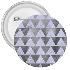 Triangle2 White Marble & Silver Paint 3  Buttons by trendistuff