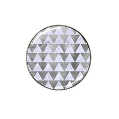 Triangle2 White Marble & Silver Paint Hat Clip Ball Marker by trendistuff