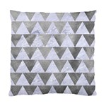 TRIANGLE2 WHITE MARBLE & SILVER PAINT Standard Cushion Case (Two Sides) Front