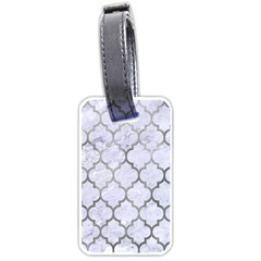 Tile1 White Marble & Silver Paint (r) Luggage Tags (one Side)  by trendistuff