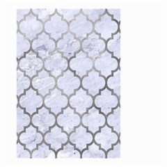 Tile1 White Marble & Silver Paint (r) Small Garden Flag (two Sides) by trendistuff