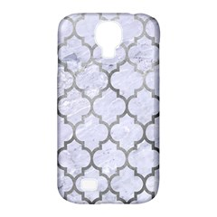 Tile1 White Marble & Silver Paint (r) Samsung Galaxy S4 Classic Hardshell Case (pc+silicone) by trendistuff