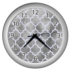 Tile1 White Marble & Silver Paint Wall Clocks (silver)  by trendistuff